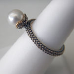 side view of pearl ring