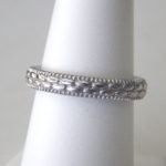 sterling silver patterned stacking ring