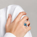 sterling silver turquoise ring on finger