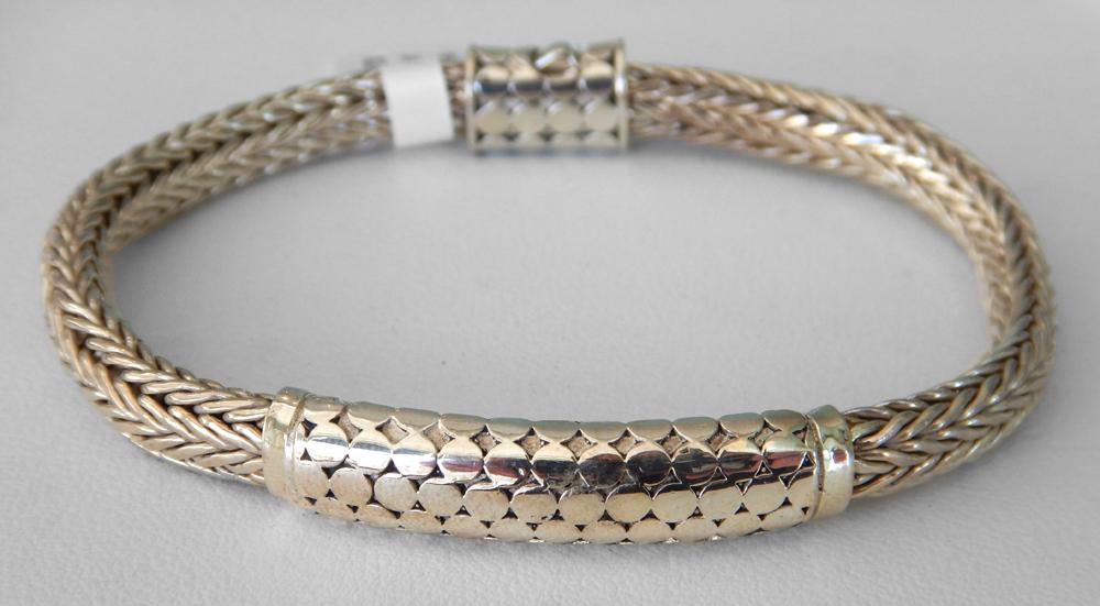 tarnished silver bracelet