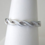 sterling silver and white enamel twisted band