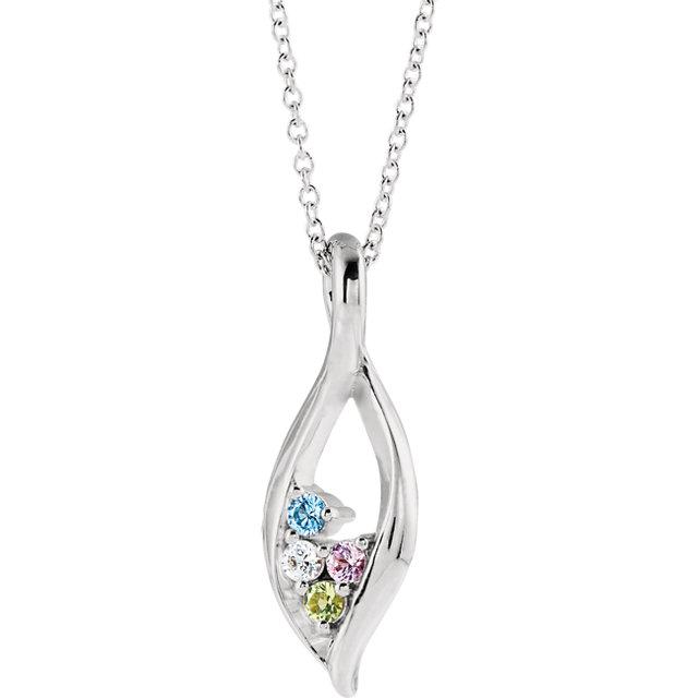 4 stone family pendant