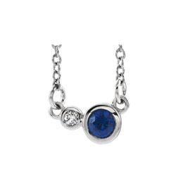 birthstone and diamond pendant
