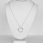 ruby and diamond circle necklace