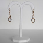 two tone gold dangle earrings