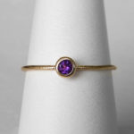 yellow gold amethyst stacking ring (large)