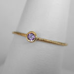 yellow gold amethyst stacking ring (medium)