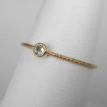 yellow gold aquamarine stacking ring (medium)