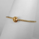 yellow gold cirtine stacking ring (medium)