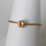 yellow gold citrine stacking ring (large)