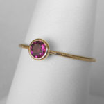 yellow gold rhodolite garnet stacking ring copy