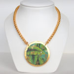 yellow gold banana leaf necklace