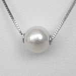 close up view of pearl necklace