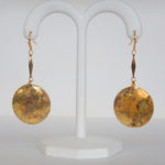 yellow gold dangle earrings