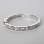 white gold art deco diamond band