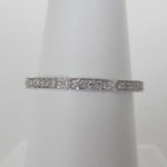 diamond band milgrain edges white gold