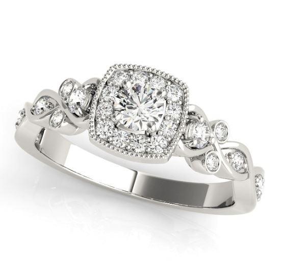 antique style diamond engagement ring