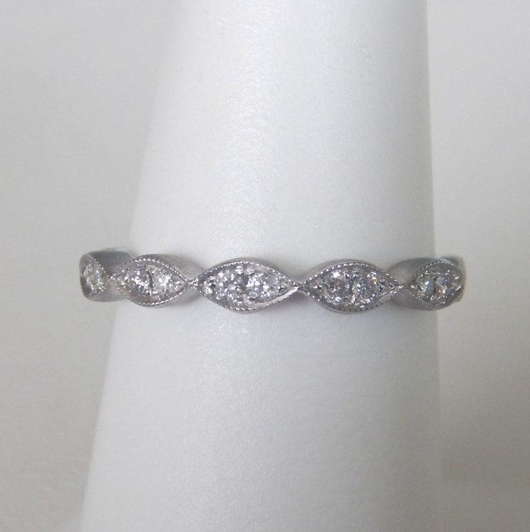 milgrain edged diamond band