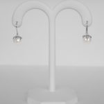 pearl and diamond dangle earrings