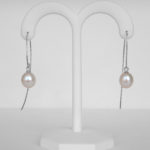 freshwater pearl shimmer dangle earrings