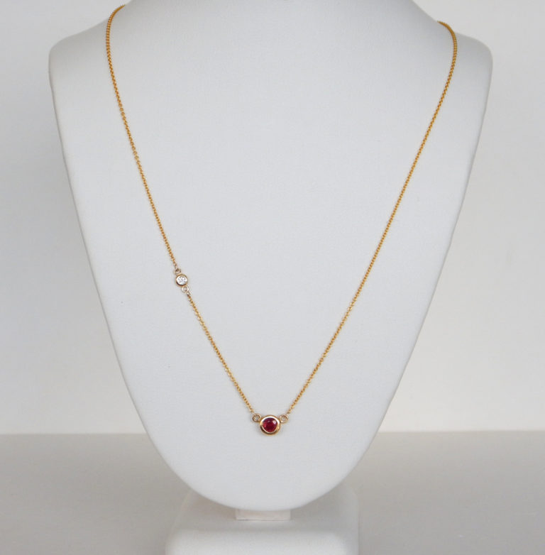 ruby and diamond station necklace