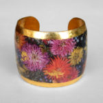 floral cuff bracelet yellow gold