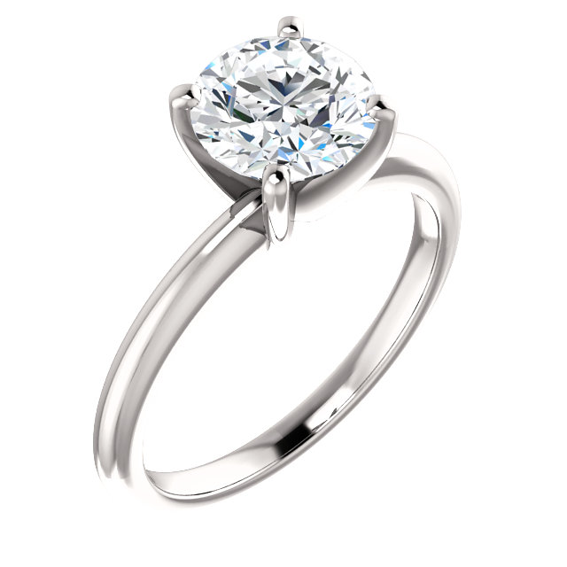 diamond engagement ring with thin band
