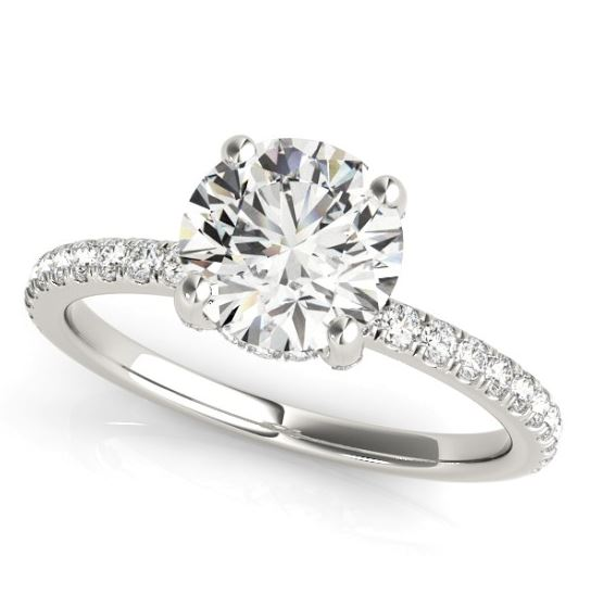 diamond accented engagement ring