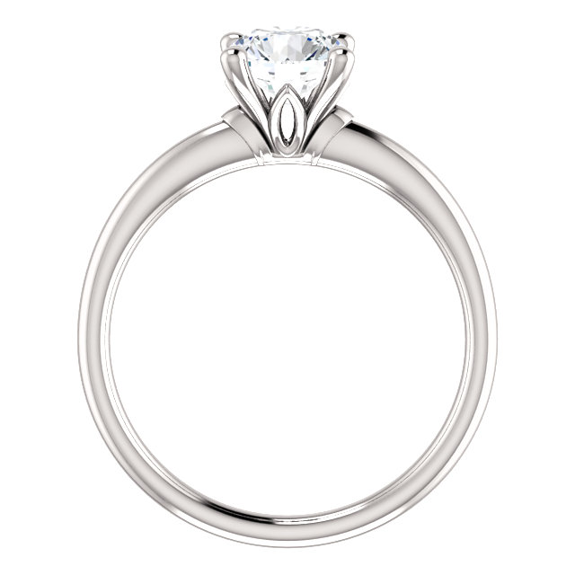 low setting diamond engagement ring