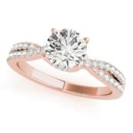 rose gold twisted diamond engagement ring