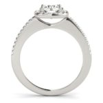 side view of halo engagement ring
