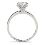 side view of solitaire engagement ring with a fancy diamond head