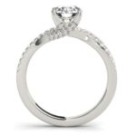 side view of twisted band diamond engagement ring
