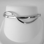 sterling silver wavy bracelet