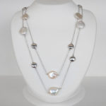 pearl and bead station necklace
