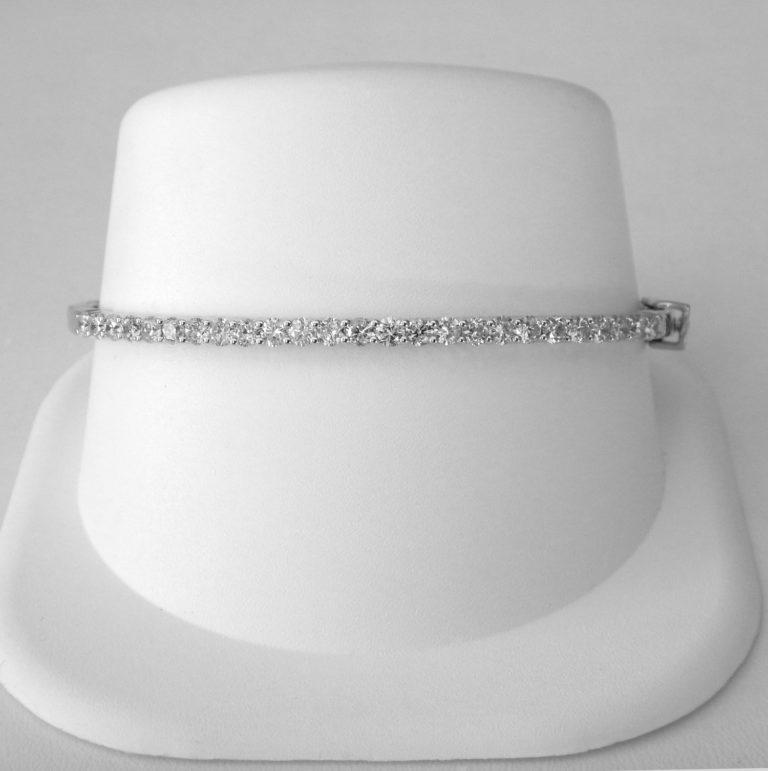 white gold diamond bangle bracelet