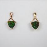 yellow gold ammolite earrings