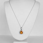 white gold citrine necklace