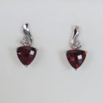white gold garnet earrings