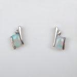 opal and diamond earrings white gold