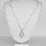 opal and diamond necklace white gold