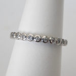 white gold bezel set diamond band