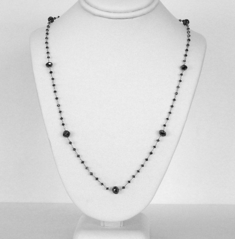 black diamond station necklace