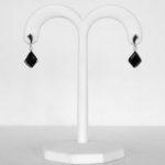 white gold black onyx earrings
