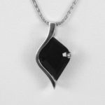 white gold black onyx pendant