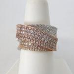 twi color gold diamond fashion ring