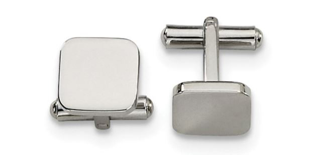 stainless steel engravable cuff links