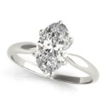 white gold oval diamond solitaire engagement ring