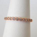rose gold bezel set diamond band