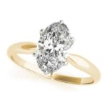 yellow gold oval diamond solitaire engagement ring